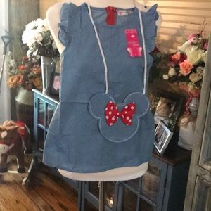 NWT Beautiful mini mouse dress with purseL#47